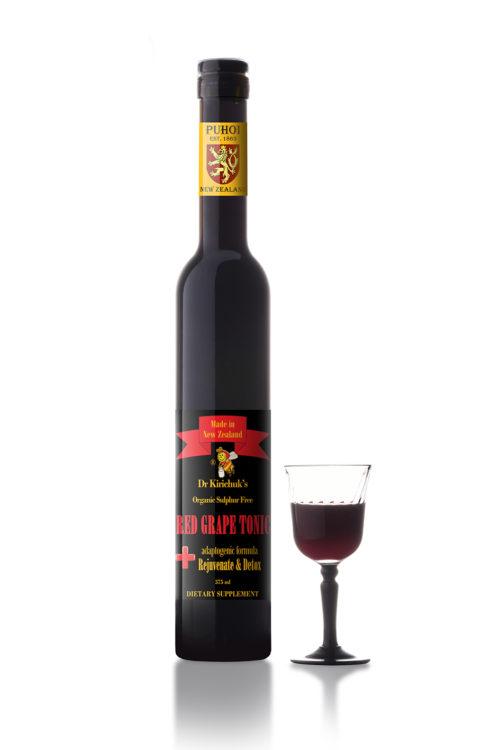 sulphite free Red Grape Tonic with polyphenols resveratrols alternative to red wine