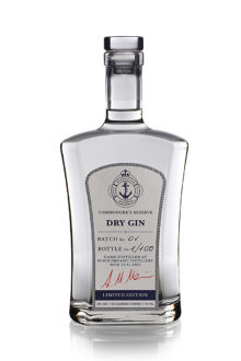 Royal New Zealand Yacht Squadron Commodore's reserve Dry Gin