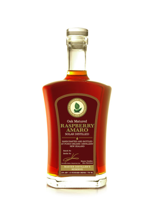 oak-matured-raspberry-amaro-artisan-aromatic-bitter-liqueur-all-natural-alternative-and-substitute-to-campari-solar-distilled-limited-edition-handcrafted-in-small-batches-in-puhoi-new-zealand-near-puhoi-valley-cheese